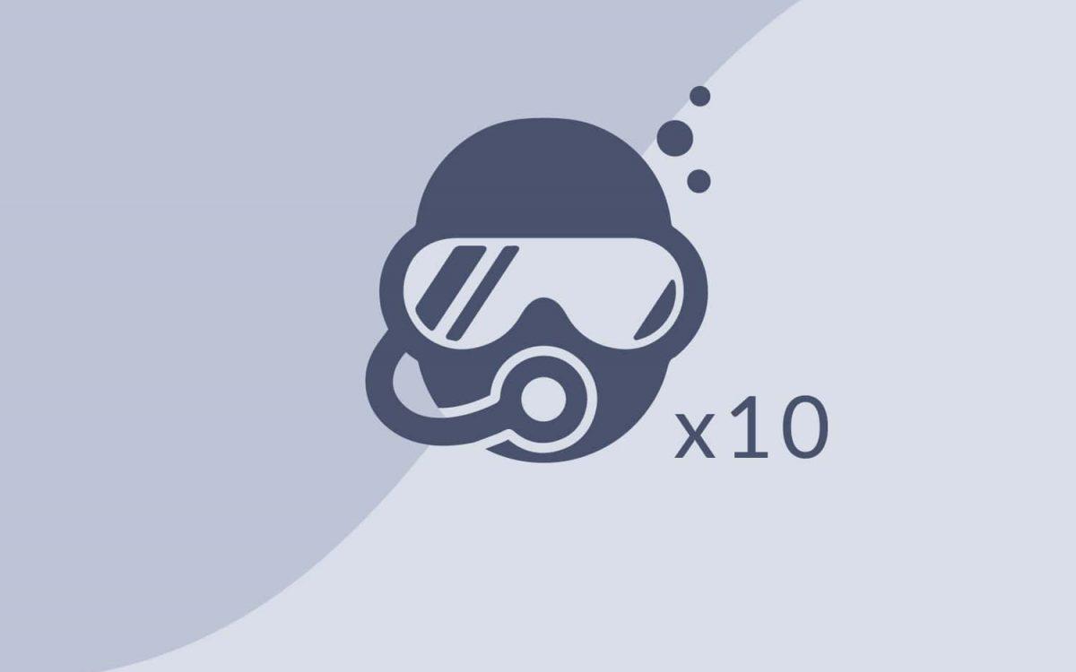 Pacchetto 10 Immersioni
